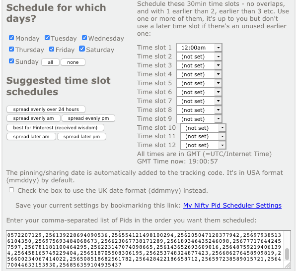 setting up the Pid scheduler