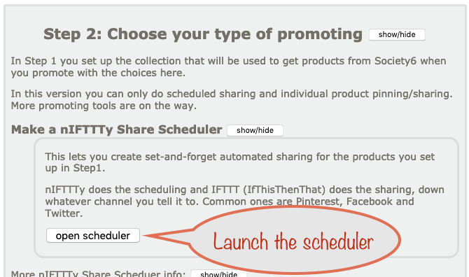 How to schedule pinning from your Society6 collection