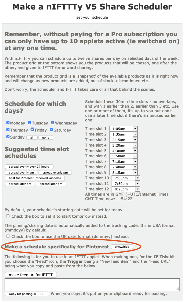 Learn how to use the dedicated nIFTTTy scheduler Pinterest