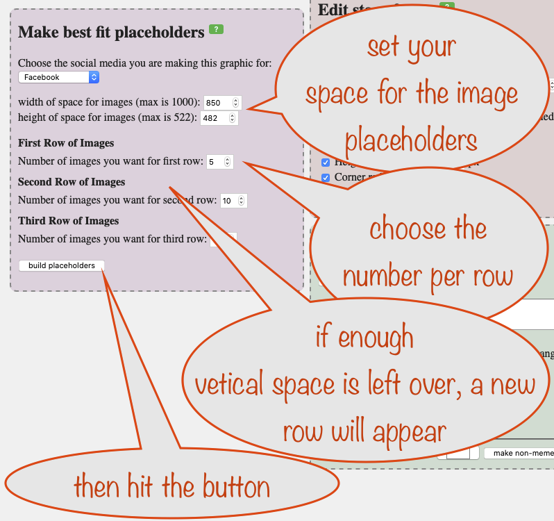 a screenshot showing an in-progress setup for the best-fit placeholder generation